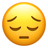 Pensive Face ios/apple emoji