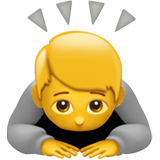 Person Bowing Deeply ios emoji