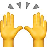 Person Raising Both Hands In Celebration ios emoji