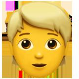 Person With Blond Hair ios emoji