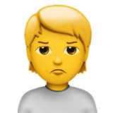 Person With Pouting Face ios emoji