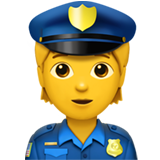 Police Officer ios emoji
