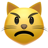 Pouting Cat Face ios/apple emoji