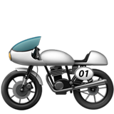 Racing Motorcycle ios emoji