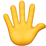 Raised Hand With Fingers Splayed ios emoji