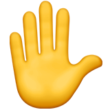 Raised Hand ios emoji