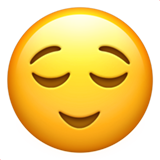 Relieved Face ios emoji