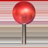 Round Pushpin ios emoji
