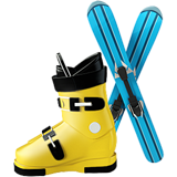 Ski And Ski Boot ios/apple emoji