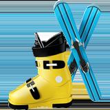 Ski And Ski Boot ios emoji