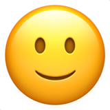 Slightly Smiling Face ios emoji