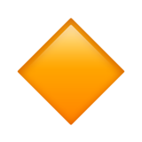 Small Orange Diamond ios/apple emoji