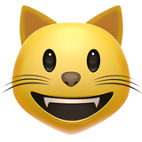 Smiling Cat Face With Open Mouth ios emoji