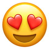 Smiling Face With Heart-shaped Eyes ios emoji