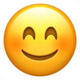 Smiling Face With Smiling Eyes ios/apple emoji