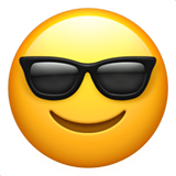 Smiling Face With Sunglasses ios emoji