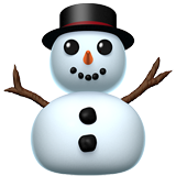 Snowman Without Snow ios emoji