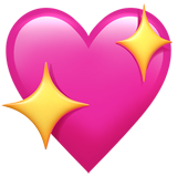 Sparkling Heart ios/apple emoji