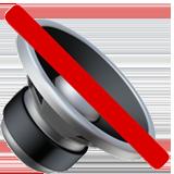 Speaker With Cancellation Stroke ios/apple emoji