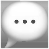 Speech Balloon ios/apple emoji