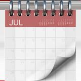 Spiral Calendar Pad ios emoji