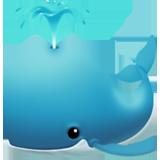 Spouting Whale ios emoji