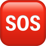 Squared Sos ios/apple emoji