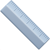 Straight Ruler ios emoji