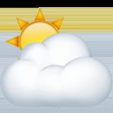 Sun Behind Cloud ios/apple emoji