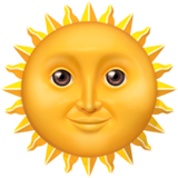 Sun With Face ios emoji