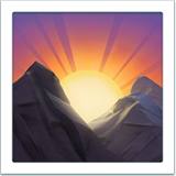 Sunrise Over Mountains ios/apple emoji