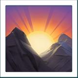 Sunrise Over Mountains ios emoji