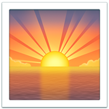 Sunrise ios emoji