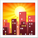 Sunset Over Buildings ios emoji
