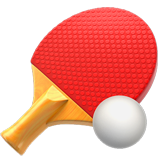 Table Tennis Paddle And Ball ios emoji