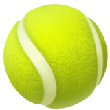 Tennis Racquet And Ball ios emoji
