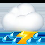 Thunder Cloud And Rain ios/apple emoji