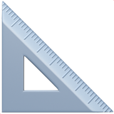 Triangular Ruler ios/apple emoji