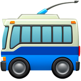 Trolleybus ios/apple emoji