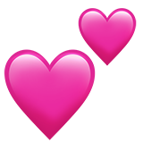 Two Hearts ios emoji