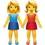 Two Women Holding Hands ios emoji