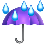 Umbrella With Rain Drops ios emoji