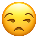 Unamused Face ios/apple emoji