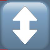 Up Down Arrow ios/apple emoji