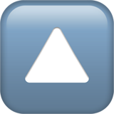 Up-pointing Small Red Triangle ios/apple emoji