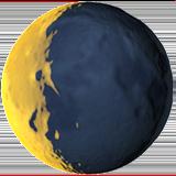 Waning Crescent Moon Symbol ios emoji