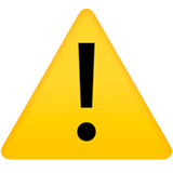 Warning Sign ios/apple emoji