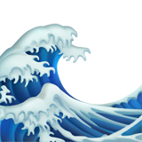 Water Wave ios/apple emoji