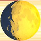 Waxing Gibbous Moon Symbol ios emoji
