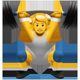 Weight Lifter ios emoji